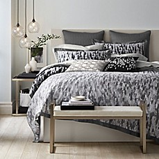 image of Canadian Living Winnipeg Duvet Cover in Grey/Charcoal