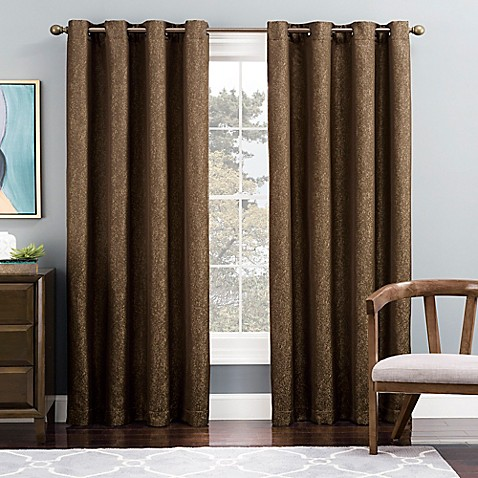 Tribeca Grommet Top Lined Window Curtain Panel Bed Bath