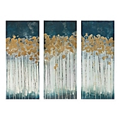 Multi Piece Canvas Wall Art madison park midnight forest 3-piece canvas wall art - bed bath