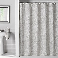 image of Flatiron Linen Paisley Shower Curtain