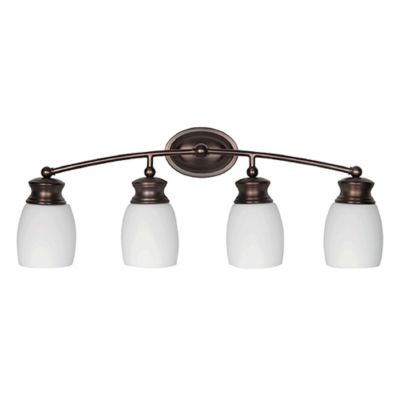 Buy Luminance Myer Sunset Lighting Wall-Mount Vanity Fixture with Glass Shade from Bed Bath & Beyond