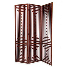 image of wayborn sarawak traditional wooded room divider screen