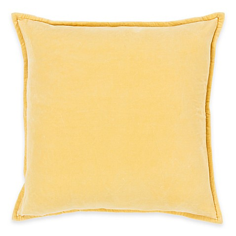 Buy Surya Velizh 20-Inch Square Throw Pillow in Gold from Bed Bath & Beyond