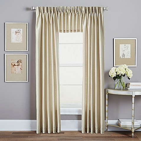 image of Spellbound Pinch-Pleat Window Curtain Panel and Valance Collection  with Sound Asleep
