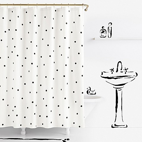 kate spade new york Deco Dot Shower Curtain - Bed Bath & Beyond