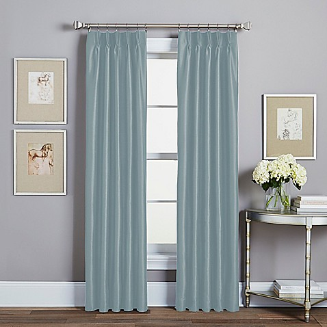 Buy Spellbound Pinch Pleat 63 Inch Rod Pocket Lined Window Curtain Panel In Blue From Bed Bath