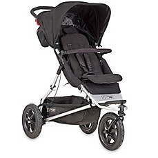 image of Mountain Buggy® +one™ Inline Double Stroller in Black