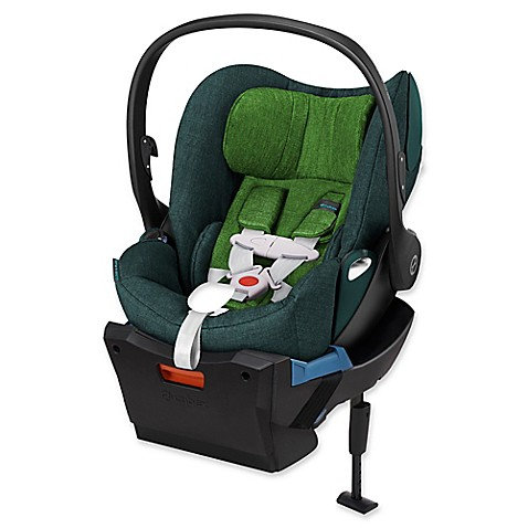 buy cybex cloud q plus infant car seat with load leg base in green hawaiian denim from bed bath. Black Bedroom Furniture Sets. Home Design Ideas