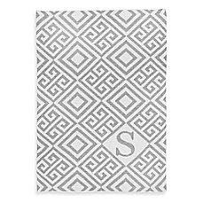 image of Tadpoles™ by Sleeping Partners Ultra-Soft Knit Greek Key Blanket in Grey
