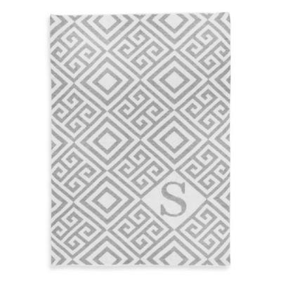 Buy Tadpoles  by Sleeping Partners Ultra-Soft Knit Greek Key Blanket in Grey ...