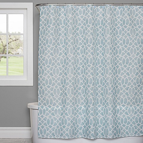 Saturday Knight Watercolor Lattice Shower Curtain