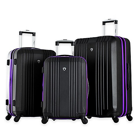 Olympia® USA Apache 3-Piece 4-Wheel Expandable Spinner Luggage Set ...