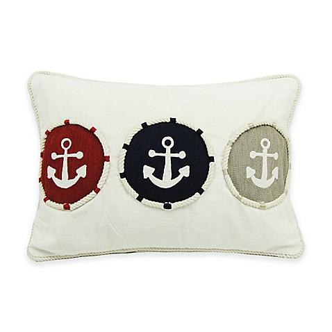 Newport Triple Anchor 20-Inch x 14-Inch Throw Pillow - Bed Bath & Beyond