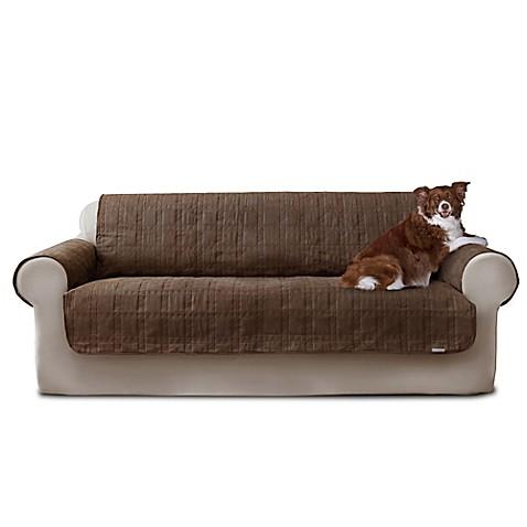 Quick Coveru0026reg; Premium Waterproof Quilted Microsuede Sofa Cover ...
