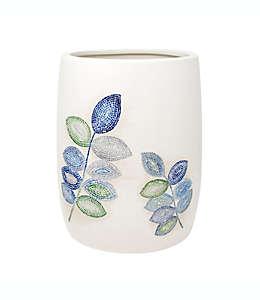 Bote de basura Croscill® con diseño de hojas en azul spa