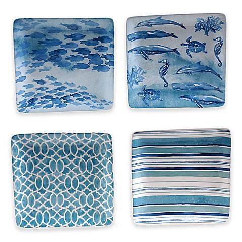Buy certified international sea life canap plates set of for Canape plate sets