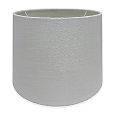 Small large lamp shades chandelier shades bed bath beyond image of adesso paris 10 inch textured fabric drum lamp shade in white greentooth Gallery