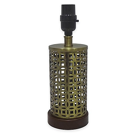 AdessoR Lattice Small Lamp Base In Antique Brass