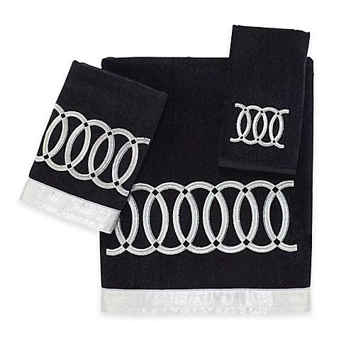 Buy Avanti Alexa Hand Towel In Black From Bed Bath Beyond