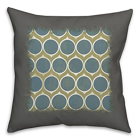 Blue Circles Abstract Throw Pillow - Bed Bath & Beyond