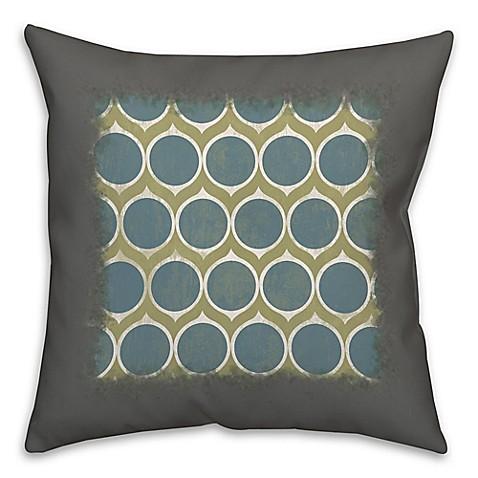 Decorative Pillows With Circles : Blue Circles Abstract Throw Pillow - Bed Bath & Beyond