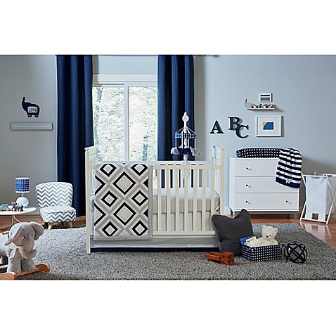 happy chic baby by jonathan adler taylor 4 piece crib bedding set buybuy baby. Black Bedroom Furniture Sets. Home Design Ideas