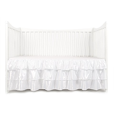 Tadpoles™ by Sleeping Partners 3-Tier Ruffled Satin Crib Skirt