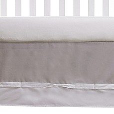 image of Living Textiles Baby Ribbon Crib Skirt in Grey