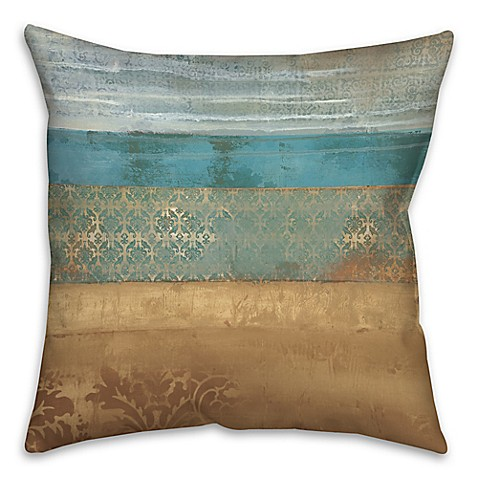 Buy Pattern Bands 18-Inch Square Throw Pillow in Blue from Bed Bath & Beyond