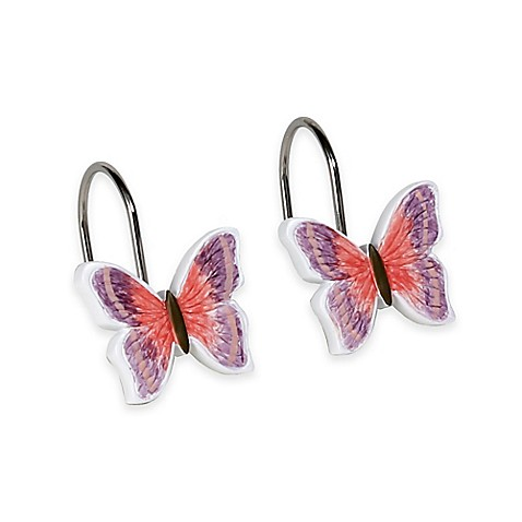 Rainbow Butterfly Shower Curtain Hooks Set Of 12 Bed Bath Beyond