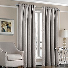 image of Designers' Select™ Satin Diamond Rod Pocket/Back Tab Window Curtain Panel