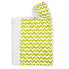 image of Bella Bundles™ Snap Hooded Towel in Lime Chevron