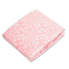 image of kushies® Flannel Portable Play Pen Fitted Sheet in Berries Pink