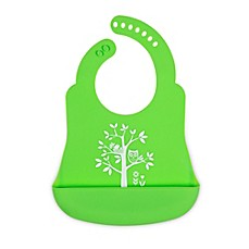image of Brinware It's a Hoot Silicone Bib Catcher in Green