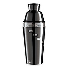 image of Oggi™ Dial A Drink™ Stainless Steel Cocktail Shaker in Black