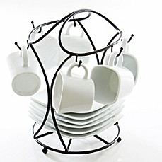image of B. Smith 13-Piece Espresso Set with Stand