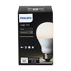 image of Philips Hue White A19 Single Dimmable LED Bulb
