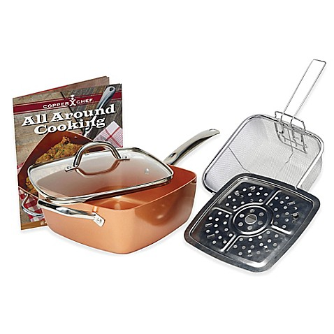 Copper Chef 5 Piece Deep 9 5 Inch Square Pan Set Bed