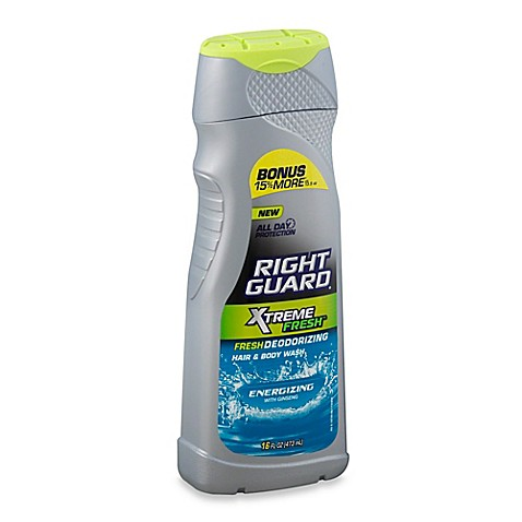 Right Guard 174 16 Oz Xtreme Fresh Hair And Body Wash In