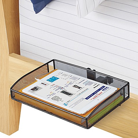 Mesh Clip On Bunk Shelf In Black Bed Bath Amp Beyond