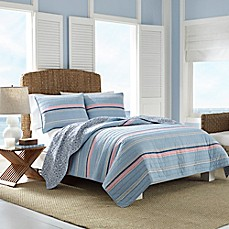 image of Nautica® Destin Quilt in Light Blue