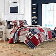 image of Nautica® Ansel Quilt in Dark Red