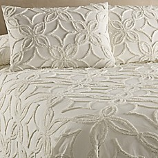 image of oman bedspread in ivory - Chenille Bedspreads