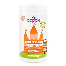 image of dapple® Pure 'N' Clean 75-Count Everything Wipes in Fragrance-Free