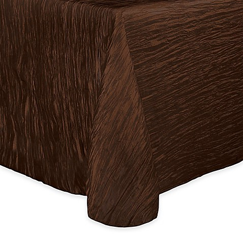 Buy Delano 50 Inch X 90 Inch Oblong Tablecloth In Brown