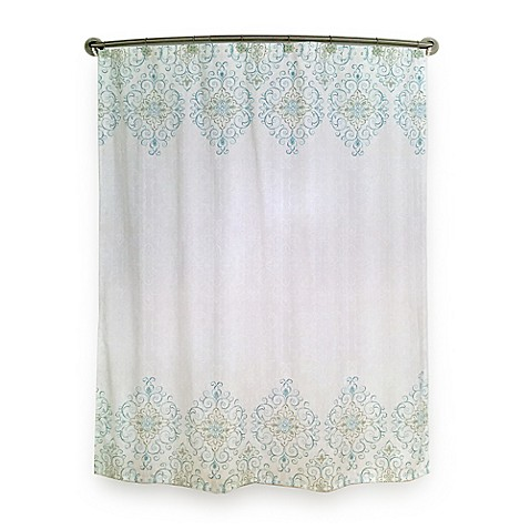 Lovely Lenox® French Perle Groove Shower Curtain in Ice Blue - Bed Bath  DR37