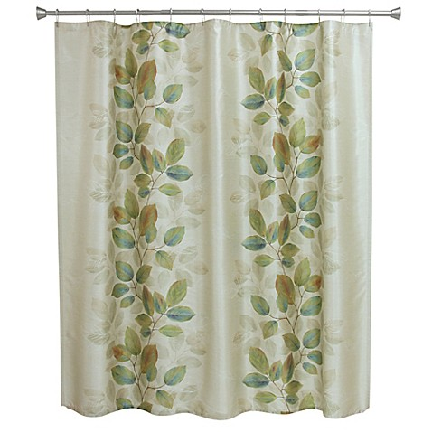 Bacova 080166105061 Leaf Study Fabric Shower Curtain ...