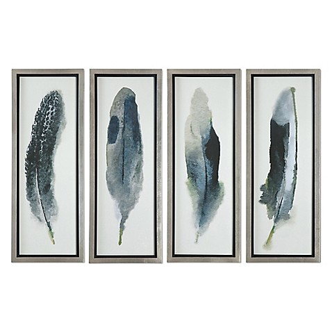 Uttermost Feathered Beauty Wall Art Prints (Set of 4) - Bed Bath ...