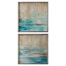 Image Of Uttermost Through The Mist Abstract Wall Art (Set Of 2)