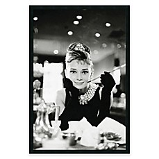 image of Audrey Hepburn Breakfast at Tiffany's Framed Wall Art